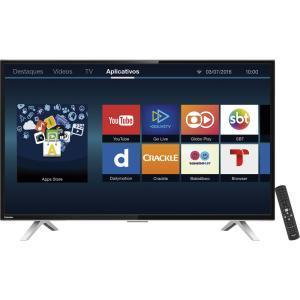 Smart TV Led HD 32 Polegadas Semp Toshiba USB HDMI 32L2600 | R$949