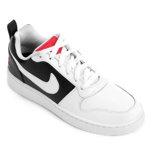 Tênis Couro Nike Recreation Low Feminino - Branco e Preto - R$157