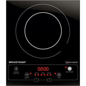 Cooktop 1 boca de indução Brastemp Gourmand portátil com timer touch - BDJ30AE - 110V - R$371