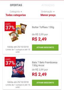 [Loja física] Bala Butter Toffees e 7 Belo 130g  por R$ 2,49