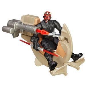 Boneco Articulado e Veículo - Star Wars - Hero Mashers - Sith Speeder e Darth Maul - Hasbro - Disney - R$40