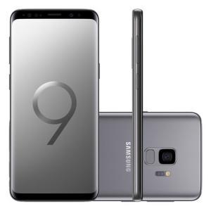 "Smartphone Samsung Galaxy S9 128GB Cinza Tela 5.8"" Câmera 12MP Android 8.0 | R$2.583"