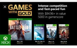 Games With Gold Novembro!