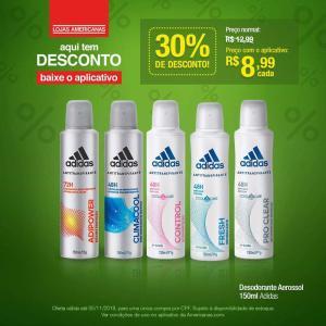 [App Americanas] Desodorante Adidas 150mL por R$8,99