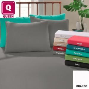 Lençol Queen diversas cores 100% algodão | R$22