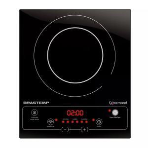 Cooktop 1 boca de indução Brastemp Gourmand portátil com timer touch - BDJ30AE - 110V - R$364