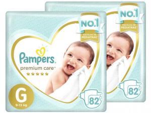 Fraldas Pampers Premium Care Tam. M/G/XG por R$ 150