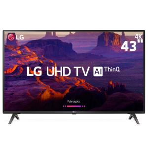 "Smart TV LED 43"" Ultra HD 4K LG 43UK6310PSE com IPS, Inteligência Artificial ThinQ AI, WI-FI, Processador Quad Core, HDR 10 Pro - R$1849"