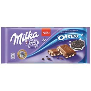 Tablete de Chocolate Oreo Biscoito 100g - Milka - R$9