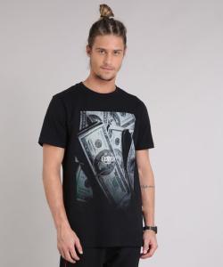 "Camiseta masculina ""fever company"" - R$16"