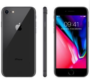 """iPhone 8 Cinza Espacial, com Tela de 4,7"""", 4G, 64 GB e Câmera de 12 MP - R$2999"""