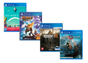 Kit - Jogos God Of War + Resident Evil® 7 + No Man`s Sky + Ratchet & Clank - PS4 - R$270