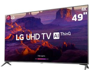"Smart TV LED 49"" LG 49UK6310 Ultra HD 4K | Painel IPS, ThinQ AI, HDR10 3 HDMI 2 USB - R$ 2499"