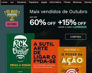 Até 60% OFF em livros na Saraiva + 15% OFF com o cupom