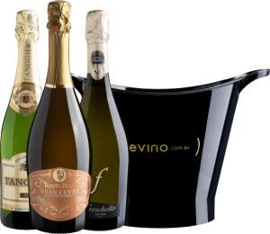 [Primeira compra] Kit de espumantes Loucura #12 Garanta seu Ano Novo da Evino - R$79