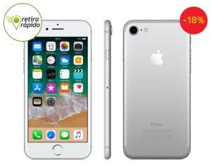 "iPhone 7 Apple 32GB, Prata, Tela HD de 4,7"" - R$2.339,10"