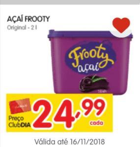Açaí Frooty 2l  - 50% off ativando desconto no aplicativo