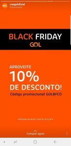 GOL 10% OFF - Black Friday GOL