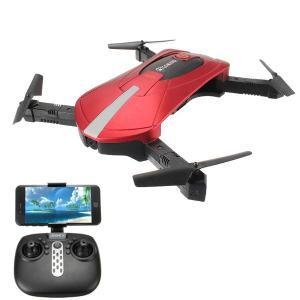 Drone com Modo de Espera Dobrável Quadricóptero RC RTF Vermelho- R$118
