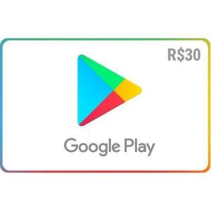 Gift Card Digital Google Play R$ 30 Recarga + Bônus de R$ 100 em itens do Clash of Clans*