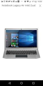 Notebook Legacy Air Intel Dual Core Windows 10 4GB Tela Full HD 13.3 Pol. Prata Multilaser - PC205 PC205