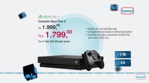 [Bemol - Loja Física] Xbox One X - R$1799