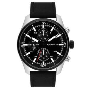 Relógio akium masculino couro preto - 03d70gl06a - R$195