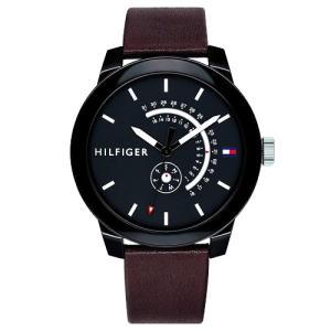 Relógio tommy hilfiger masculino couro marrom - 1791478 - R$292