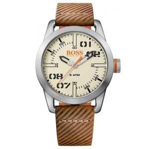 Relógio hugo boss masculino couro marrom - 1513418 - R$357