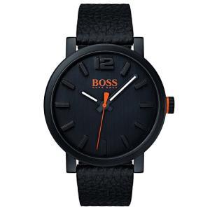 Relógio hugo boss masculino couro preto - 1550038 - R$354
