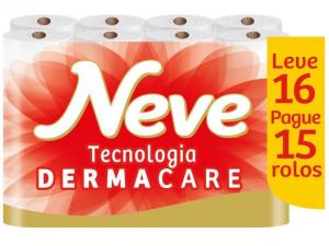 Papel Higiênico Folha Dupla Neve - Toque de Seda Leve 16 Rolos para R$ 14
