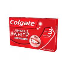 4 Kits com 3 unidades de Creme Dental Colgate Luminous White Brilliant White 70g
