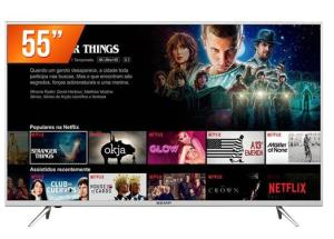 Smart TV LED 55`` Ultra HD 4K Semp 55K1US 3 HDMI 2 USB Wi-Fi Integrado Conversor Digital - R$2499