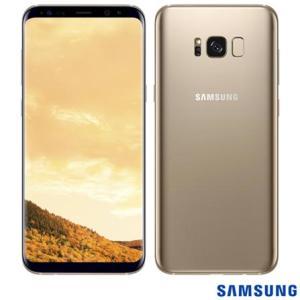 """Samsung Galaxy S8 Plus Dourado, com Tela de 6,2"""", 4G, 64 GB e Câmera de 12 MP - SM-G955 R$ 2199"""