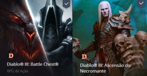 Diablo 3 Battle chest + necro + Deluxe edition - R$73
