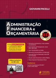 Livro Administração Financeira e Orçamentaria 3D - Giovanni Pacelli por R$ 26