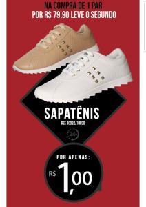 Compre um tênis na milano e o segundo sai por R$1,00