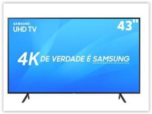 "Smart TV LED 43"" UHD 4K Samsung 43NU7100 com HDR Premium, Wi-Fi, Processador Quad-core por R$ 1899"