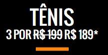 3 tênis por R$ 189,00