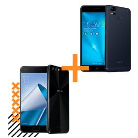 ZenFone 4 4GB/64GB Preto + Zenfone Zoom S 3GB/32GB Preto - R$1851