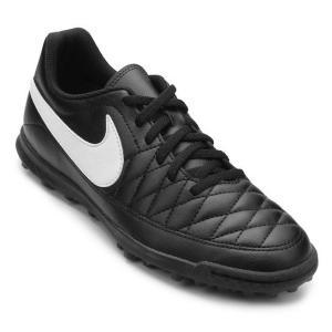Chuteira Society Nike Majestry TF Masculina - Preto e Branco