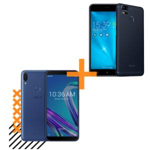 Zenfone Max Pro (M1) 4GB/64GB Azul + Zenfone Zoom S 3GB/32GB Preto  R$1999