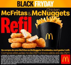 Refil McFritas e McNuggets  no McDonalds