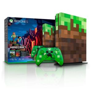 Console Microsoft Xbox One S 1tb + Minecraft