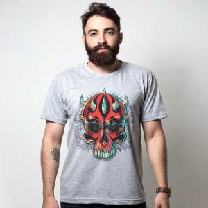 Camiseta cinza - SKULL MAUL R$ 29