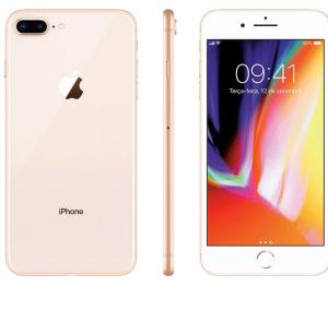 "iPhone 8 Plus Dourado 64GB Tela 5.5"" IOS 11 4G Wi-Fi Câmera 12MP - Apple | R$3.242"