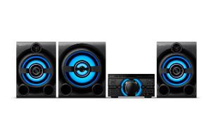 Mini System MHC-M80D, conexão HDMI ARC, iluminação para festa e 2150 W RMS 2 caixas + subwoofer M80D | R$1.799