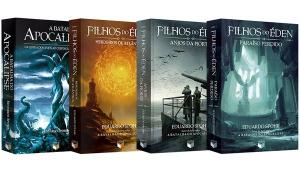 SÉRIE FILHOS DO ÉDEN - VOLUMES 1, 2 E 3 + A BATALHA DO APOCALIPSE - R$90