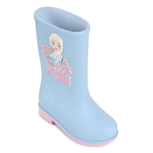 Bota Infantil Galocha Frozen Disney Feminina - Azul e Rosa | R$50