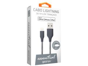 Cabo Carregador Lightning Geonav 1m - Essential - R$22